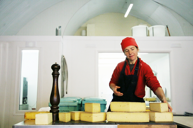 Cheese-making assistant Jen Kast at Kappacasein, a café and dairy known for only one thing: cheese. <br />UNITED KINGDOM, London | 2011