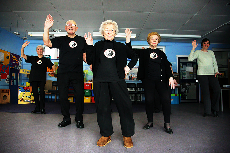Tai Chi group on the European Year of Active Ageing. <br />Photo for Berkshire Age UK. <br />UNITED KINGDOM, Reading | 2012